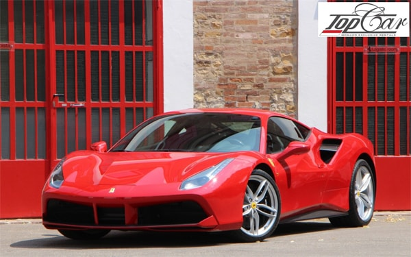 Ferrari 488 Spider perfect car for rent in Nice. Discover woderfull city Nice behind the wheel of new Ferrari.