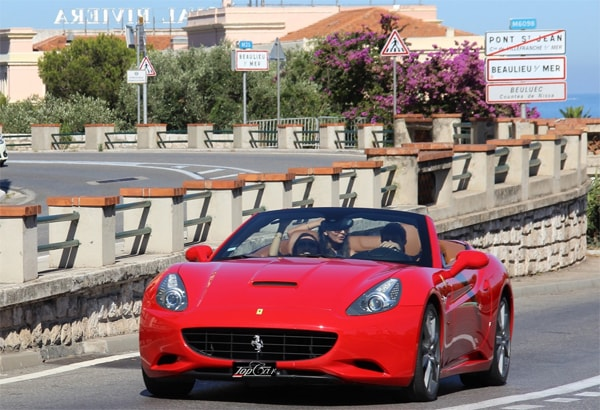 Rent Ferrari California in Nice, Ferrari California red rent in Nice airport, Hire convertible Ferrari in Nice, Hire Ferrari California T in Nice, France