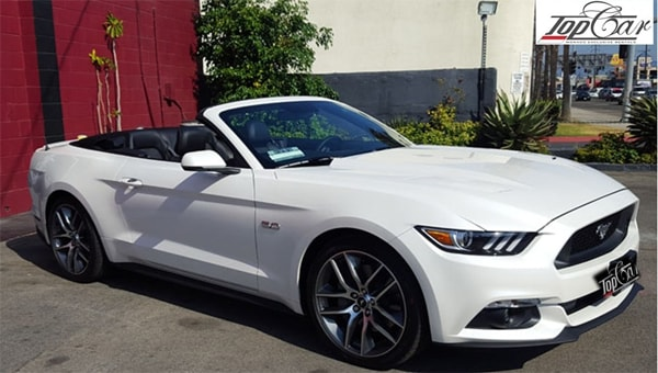 hire sportcar ford mustang in nice france with best car rental service, rent car for wedding in france