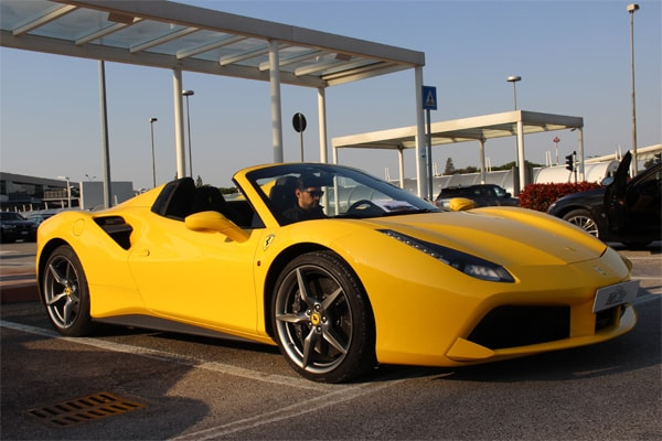 rent ferrari 488 spider yellow in cannes, how to rent ferrari spider in cannes, hire ferrari for wedding cannes france