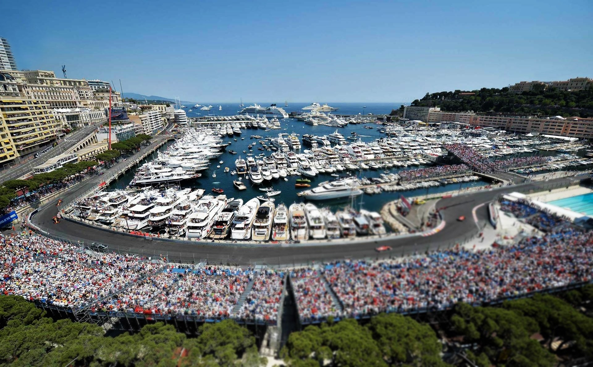 formula 1 2018 monaco, best terrace, vip tickets f1, rent ferrari california, ferrari 488 spider, lamborghini hucarac during formula1 monaco